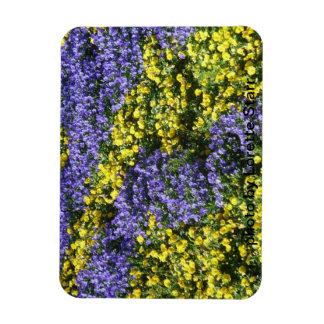 Purple and Yelllow Flowers Premium Magnet