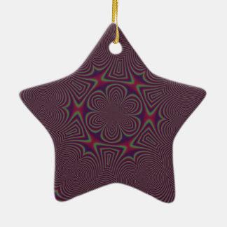 Purple and yellow Abrastrato standard Ceramic Ornament