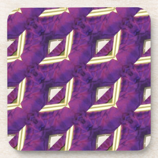Purple And Yellow Abstract Designed Products Coaster