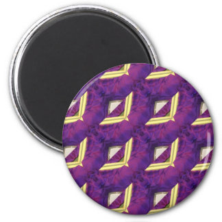 Purple And Yellow Abstract Designed Products Magnet