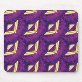Purple And Yellow Abstract Designed Products Mouse Pad