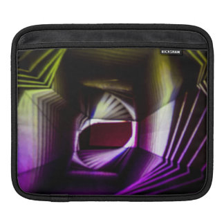 Purple and Yellow Abstract Light Painting iPad Sleeves