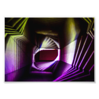Purple and Yellow Abstract Light Painting Photo Print