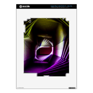 Purple and Yellow Abstract Light Painting iPad 3 Skins