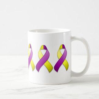 Purple and Yellow Awareness Ribbon Mug