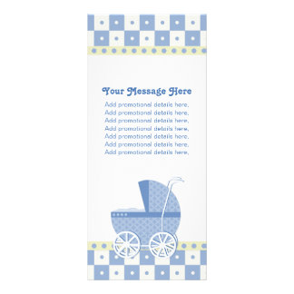 Purple and Yellow Baby Carriage Rack Cards