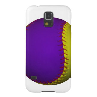 Purple and Yellow Baseball Case For Galaxy S5