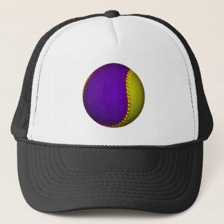 Purple and Yellow Baseball Trucker Hat
