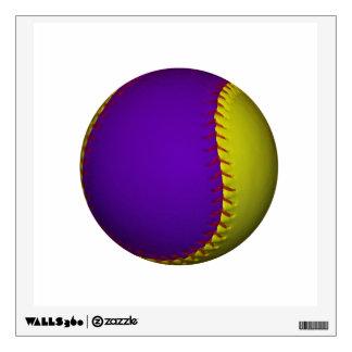 Purple and Yellow Baseball Wall Sticker