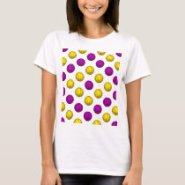 Purple and Yellow Basketball Pattern T-Shirt