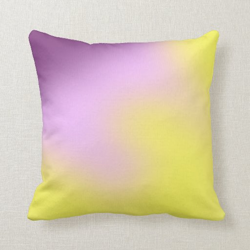 Purple and Yellow Blur Throw Pillow Zazzle