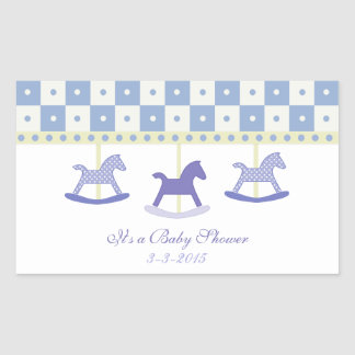 Purple and Yellow Carousel: Baby Shower Stickers