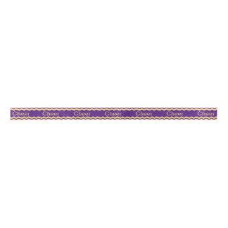 Purple and Yellow Cheer Ribbon Satin Ribbon