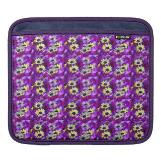 Purple and Yellow Daisy iPad Sleeve