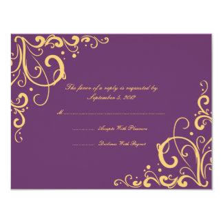 Purple And Yellow Wedding Invitations Amp Announcements