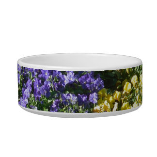 Purple and Yellow Flower Pet Bowl photo by Lorette