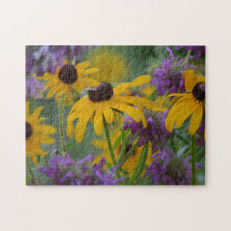 Purple and Yellow Flowers 2366 Jigsaw Puzzle