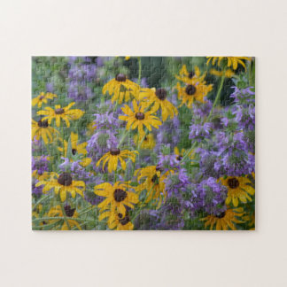 Purple and Yellow Flowers 3025 Jigsaw Puzzle