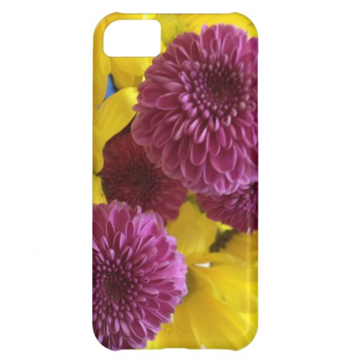 Purple and Yellow Flowers iPhone Case Cover For iPhone 5C