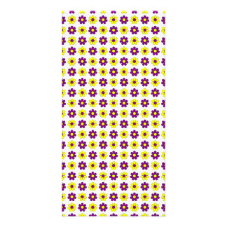 Purple and yellow flowers photo card