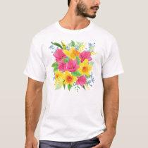 Purple and Yellow Flowers T-Shirt