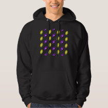 Purple and Yellow Football Pattern Hoodie