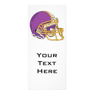 purple and yellow gold football helmet vector desi rack card