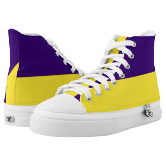 Purple and Yellow-Gold Two-Tone Hi-Top