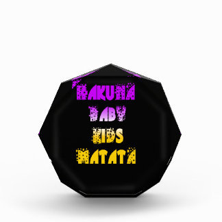 Purple and Yellow Hakuna Matata Baby Kids Gifts  a Acrylic Award