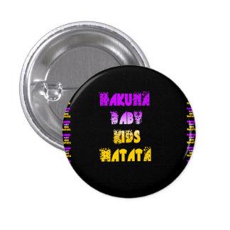 Purple and Yellow Hakuna Matata Baby Kids Gifts  a Button