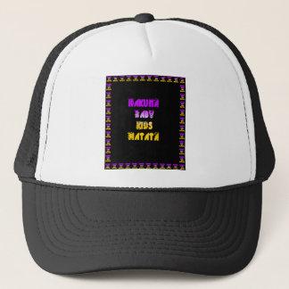 Purple and Yellow Hakuna Matata Baby Kids Gifts  a Trucker Hat