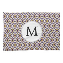 Purple and yellow Ikat personalized monogram Hand Towel