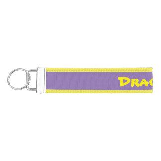 Purple and Yellow key chain. Wrist Keychain
