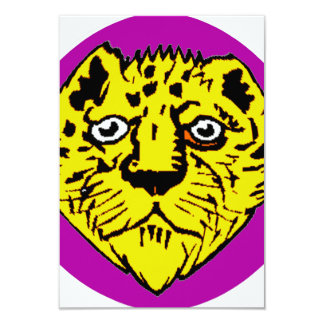 purple and yellow lion head graphic card