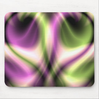 Purple and yellow Marble Heart Candy Mousepad