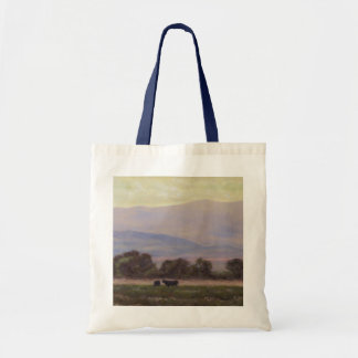 Purple and Yellow Mountains Canvas Tote Bags