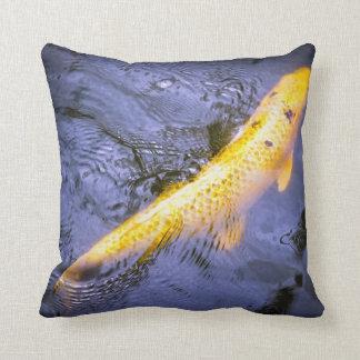 Purple and Yellow/Orange Koi Fish Pillow