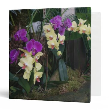 everydaylifesf Purple and Yellow Orchids Binder