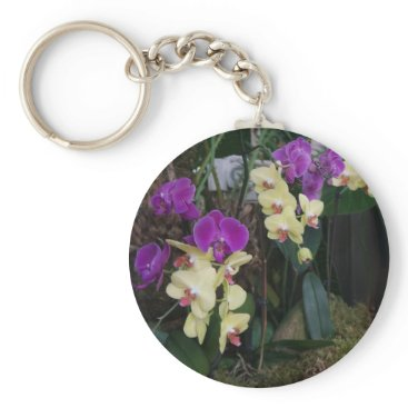 everydaylifesf Purple and Yellow Orchids Keychain