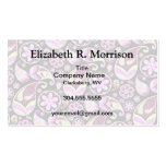 Purple and Yellow Paisley Business Card Template