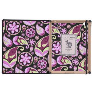 Purple and Yellow Paisley iPad Case