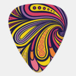 Purple and yellow paisley guitar pick