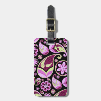 Purple and Yellow Paisley Tag For Bags