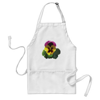 Purple and Yellow Pansy Adult Apron