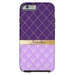 Purple and yellow pattern iPhone 6 case