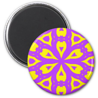 Purple and Yellow pattern Magnet