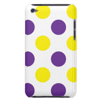 Purple and Yellow Polka Dots iPod Case-Mate Case