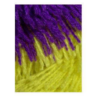 Purple and yellow! postcard