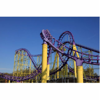 Purple and Yellow Roller Coaster Tracks Statuette