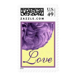 Purple and Yellow Rose Wedding Stamp